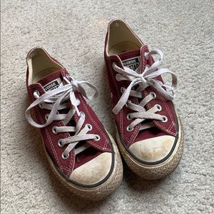 Converse Burgundy Low Top WOMENS SIZE 8